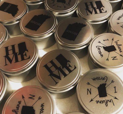 custom printed soy candle lids